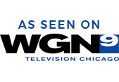 As Seen on WGN 9 Television Chicago logo