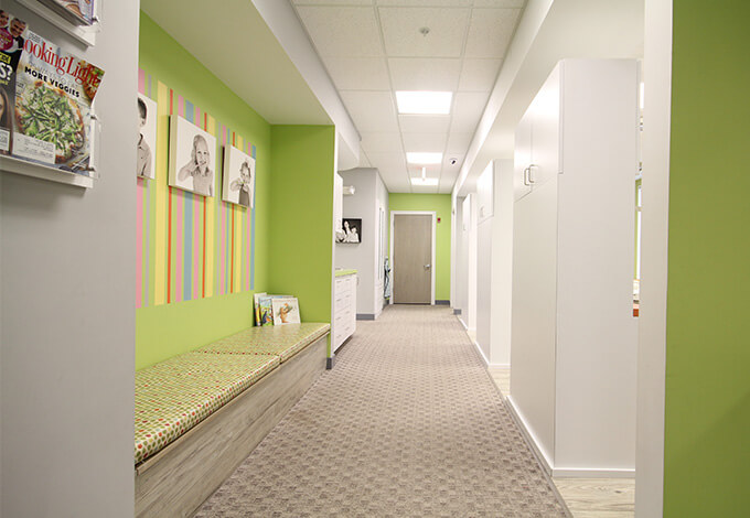 Hallway leading to waiting area